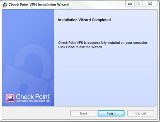 VPN Installation Windows Finish screen